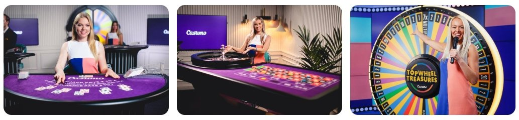Casumo live casino games